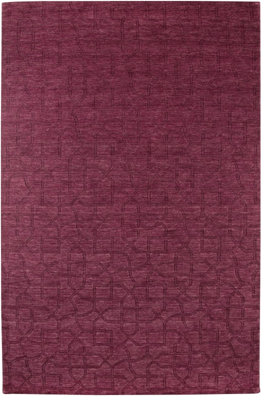Rizzy Home UP2453 Uptown Hand Loomed New Zealand Wool Rug Red 8 x 10