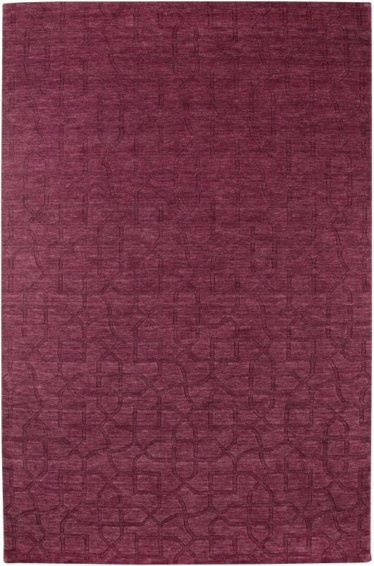 Rizzy Home UP2453 Uptown Hand Loomed New Zealand Wool Rug Red 5 1/2 x
