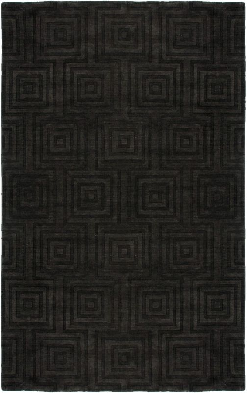 Rizzy Home UP2890 Uptown Hand Loomed New Zealand Wool Rug Charcoal 9 x