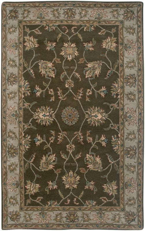 Rizzy Home VO1145 Volare Hand-Tufted Wool Rug Brown 3 x 5 Home Decor