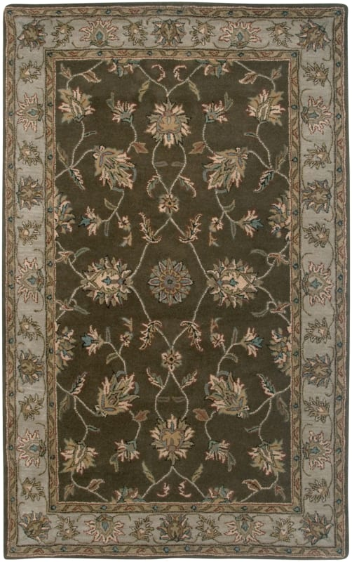 Rizzy Home VO1145 Volare Hand-Tufted Wool Rug Brown 5 x 8 Home Decor