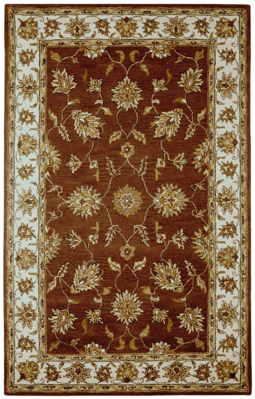Rizzy Home VO1244 Volare Hand-Tufted Wool Rug Rust 5 x 8 Home Decor