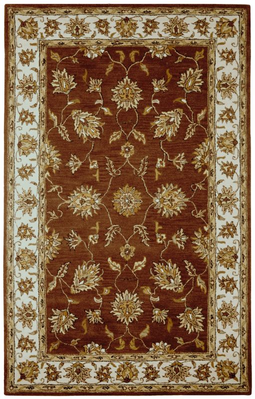 Rizzy Home VO1244 Volare Hand-Tufted Wool Rug Rust 8 x 10 Home Decor
