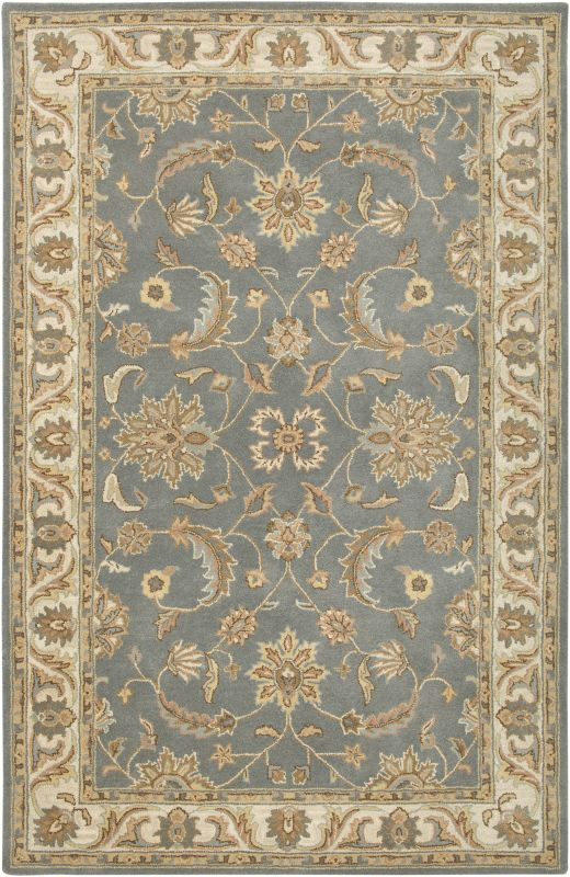 Rizzy Home VO1427 Volare Hand-Tufted Wool Rug Light Gray 5 x 8 Home