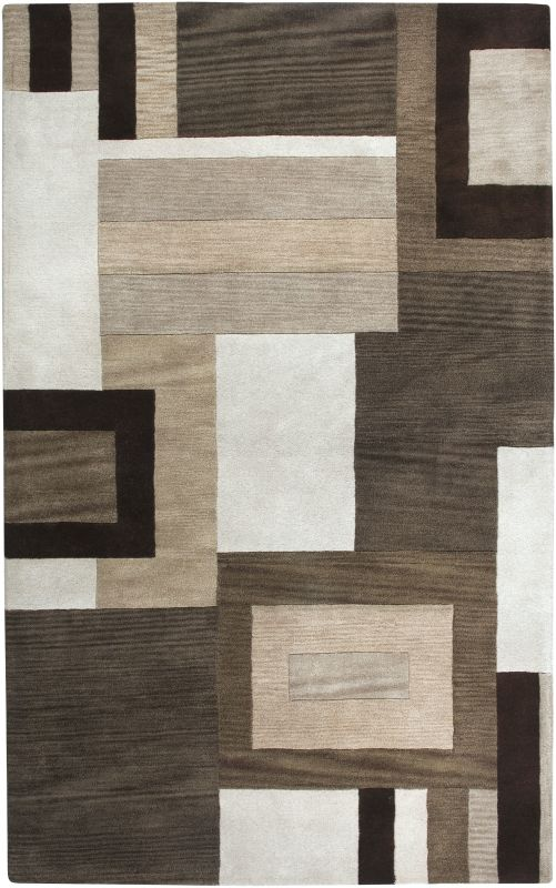 Rizzy Home VO1431 Volare Hand-Tufted Wool Rug Brown 5 x 8 Home Decor