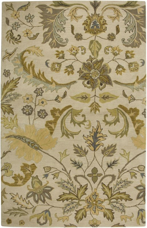 Rizzy Home VO1607 Volare Hand-Tufted Wool Rug Beige 3 x 5 Home Decor