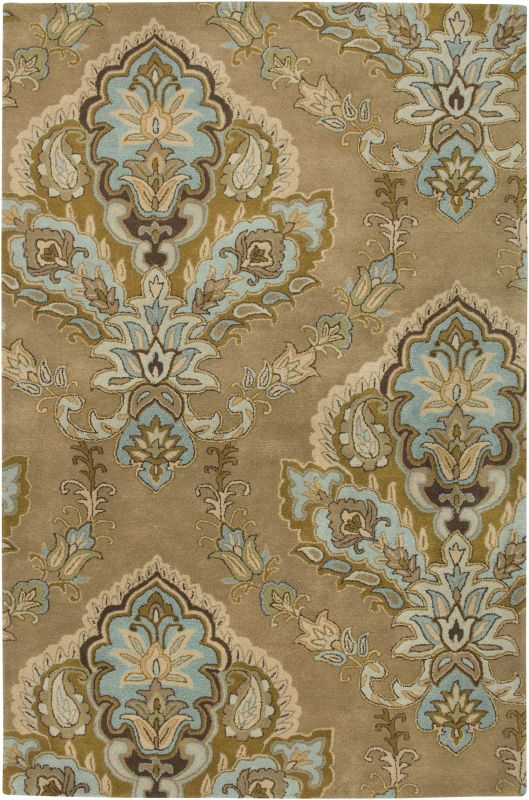 Rizzy Home VO1683 Volare Hand-Tufted Wool Rug Latte 9 x 12 Home Decor