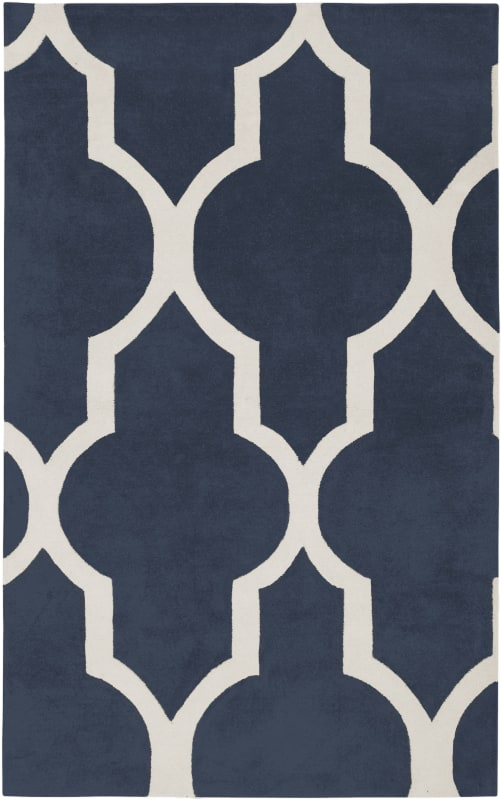 Rizzy Home VO2132 Volare Hand-Tufted Wool Rug Navy 5 x 8 Home Decor