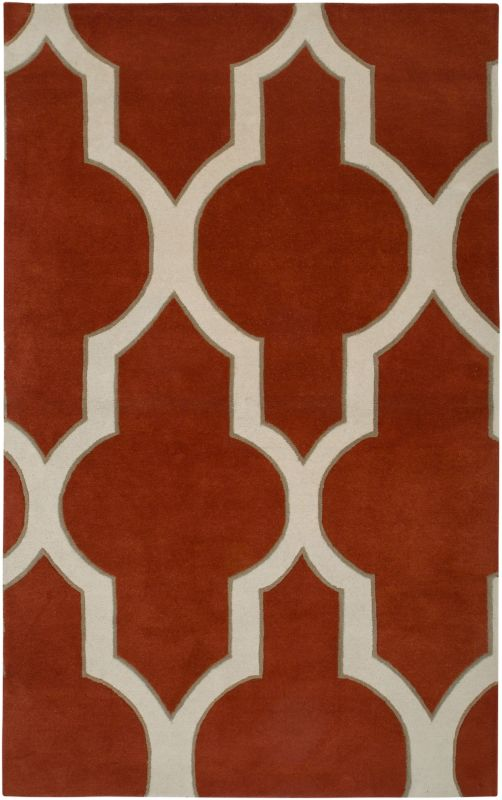 Rizzy Home VO2134 Volare Hand-Tufted Wool Rug Rust 3 x 5 Home Decor