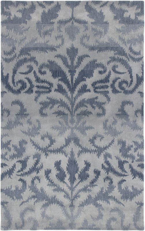 Rizzy Home VO2254 Volare Hand-Tufted Wool Rug Light Gray 8 x 10 Home