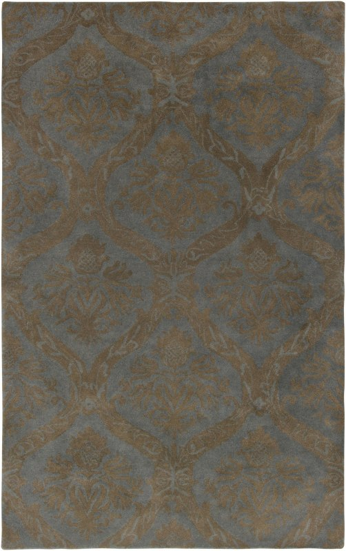 Rizzy Home VO2287 Volare Hand-Tufted Wool Rug Light Gray 5 x 8 Home