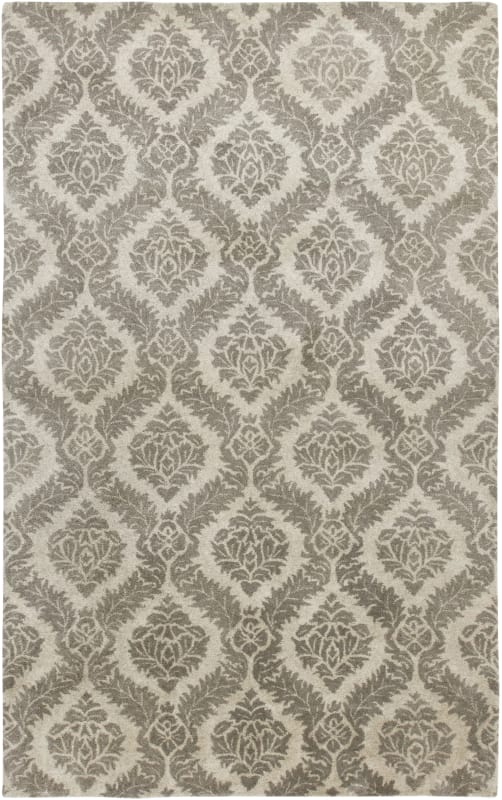 Rizzy Home VO2371 Volare Hand-Tufted Wool Rug Gray 9 x 12 Home Decor
