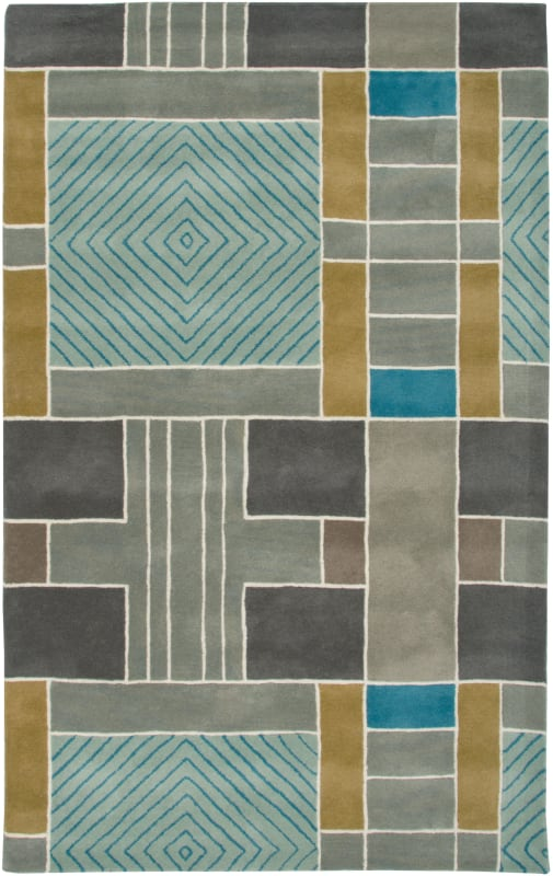 Rizzy Home VO2654 Volare Hand-Tufted Wool Rug Light Blue 3 x 5 Home