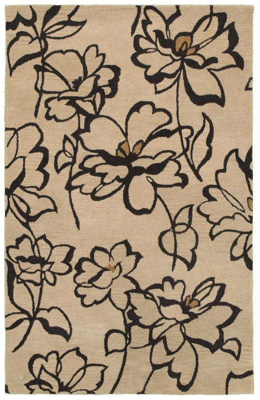 Rizzy Home VO5084 Volare Hand-Tufted Wool Rug Beige 5 x 8 Home Decor