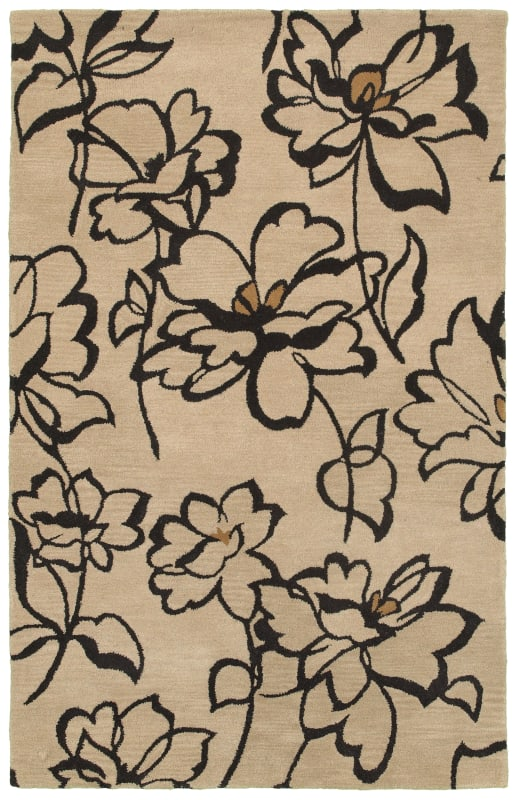 Rizzy Home VO5084 Volare Hand-Tufted Wool Rug Beige 8 x 10 Home Decor