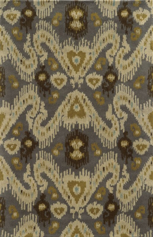 Rizzy Home VO5087 Volare Hand-Tufted Wool Rug Gray 5 x 8 Home Decor
