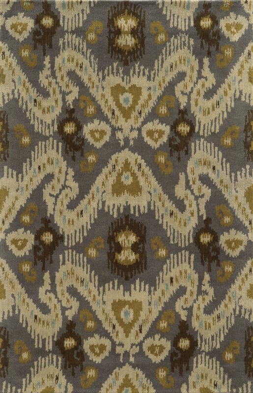 Rizzy Home VO5087 Volare Hand-Tufted Wool Rug Gray 9 x 12 Home Decor