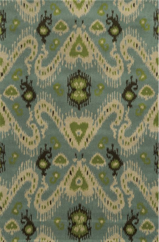 Rizzy Home VO5091 Volare Hand-Tufted Wool Rug Blue 5 x 8 Home Decor