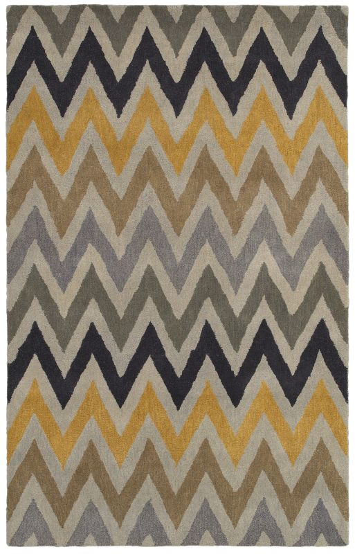 Rizzy Home VO8170 Volare Hand-Tufted Wool Rug Gold 5 x 8 Home Decor