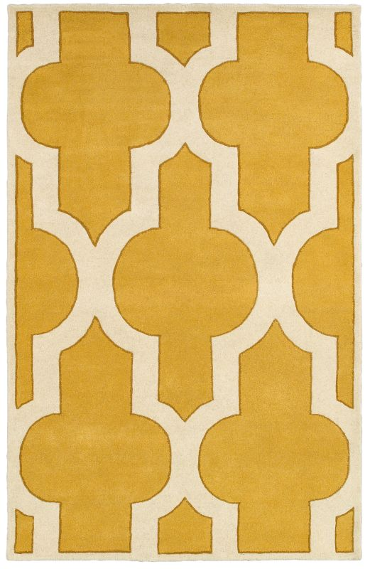 Rizzy Home VO8178 Volare Hand-Tufted Wool Rug Gold 5 x 8 Home Decor