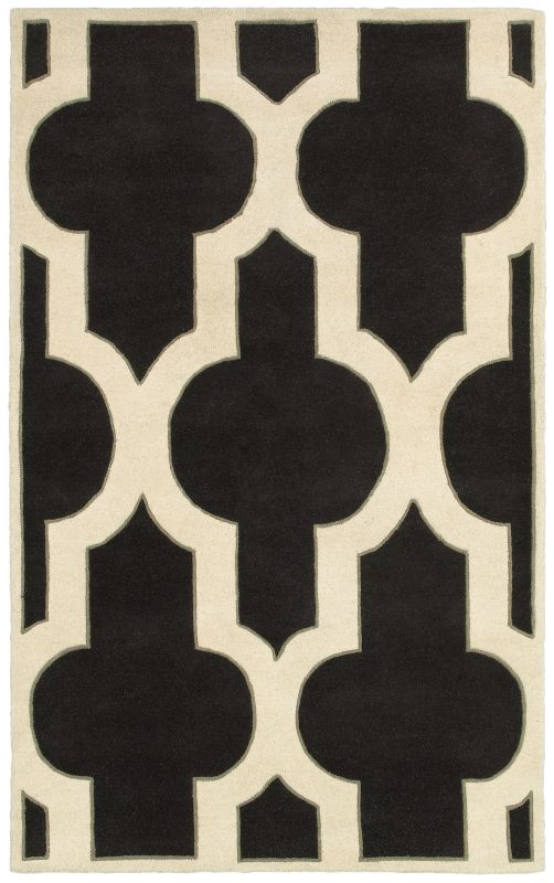 Rizzy Home VO8186 Volare Hand-Tufted Wool Rug Charcoal 5 x 8 Home