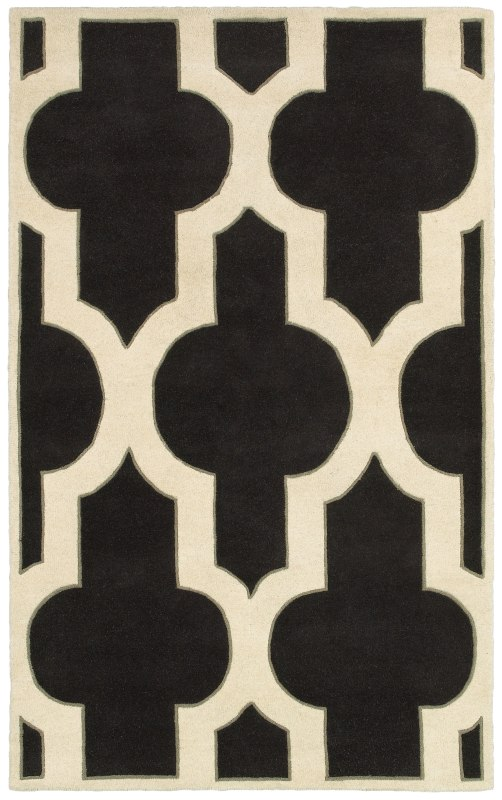 Rizzy Home VO8186 Volare Hand-Tufted Wool Rug Charcoal 2 1/2 x 8 Home