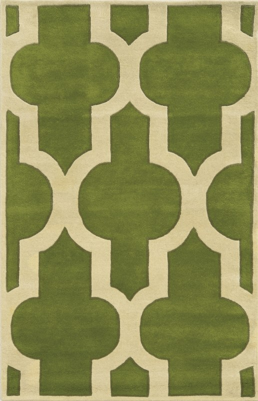 Rizzy Home VO8256 Volare Hand-Tufted Wool Rug Green 8 x 10 Home Decor
