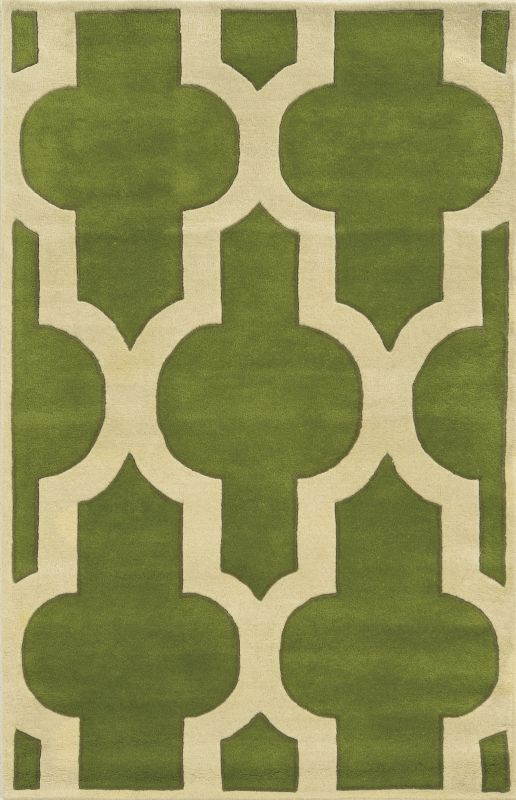 Rizzy Home VO8256 Volare Hand-Tufted Wool Rug Green 2 1/2 x 8 Home