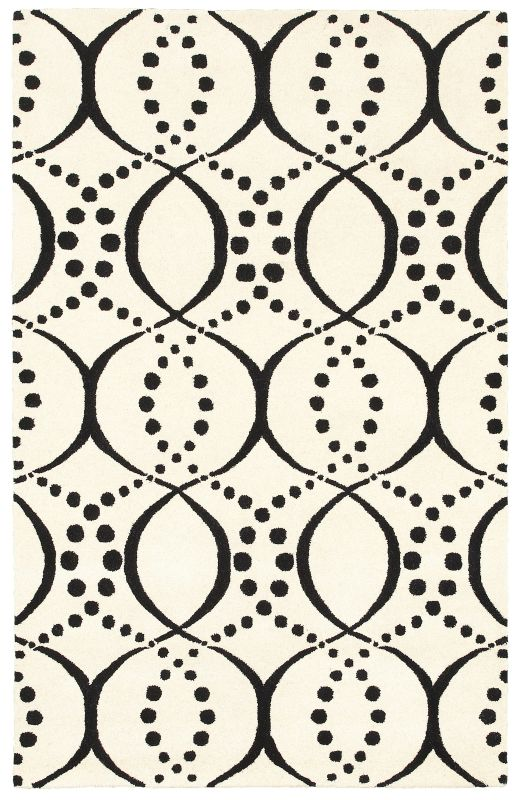 Rizzy Home VO8448 Volare Hand-Tufted Wool Rug White 5 x 8 Home Decor