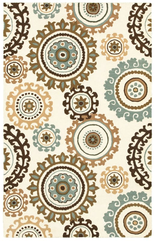 Rizzy Home V08466 Volare Hand-Tufted Wool Rug Off White 3 x 5 Home