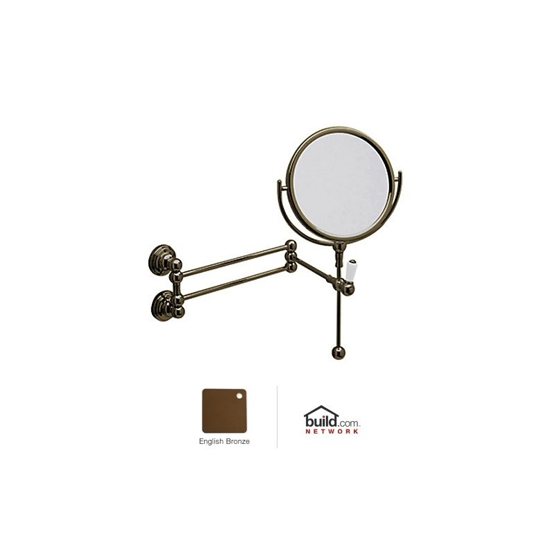 Rohl U.6918 Perrin and Rowe Wall Mounted Shaving Mirror English Bronze