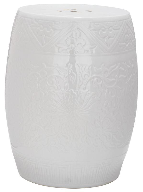 Safavieh ACS4502 Lotus Ceramic Garden Stool Off White Home Decor