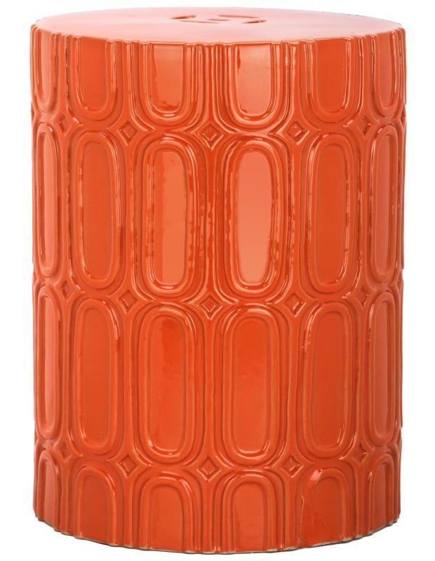 "Safavieh ACS4529 Melody 16"" Tall Glazed Ceramic Round Garden Stool"