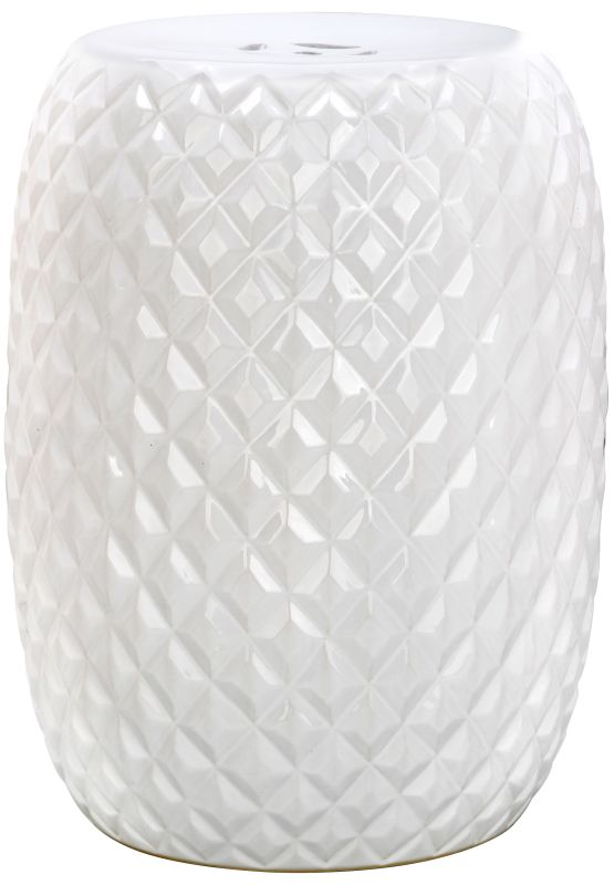 Safavieh ACS4549 Calla Ceramic Garden Stool White Home Decor Garden