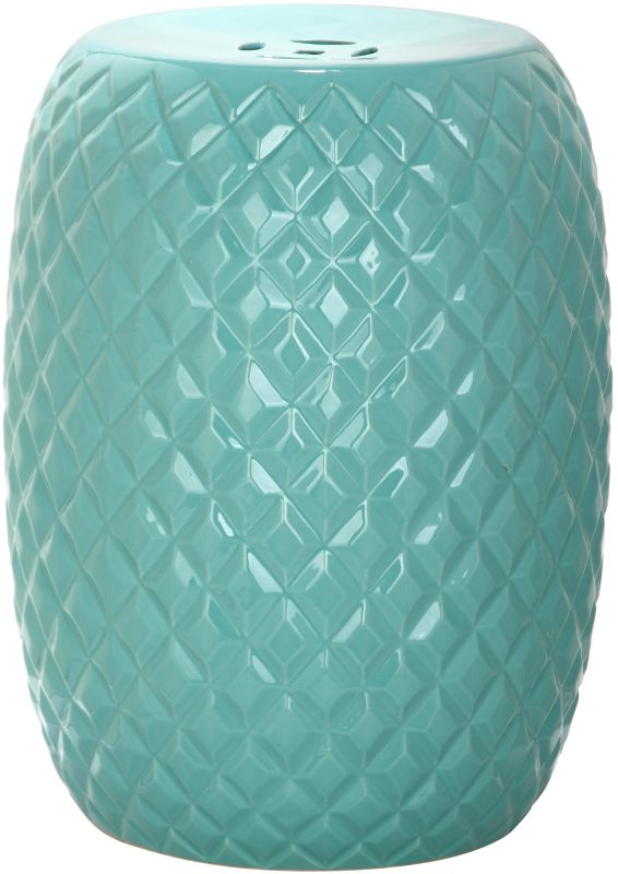 Safavieh ACS4549 Calla Ceramic Garden Stool Aqua Home Decor Garden