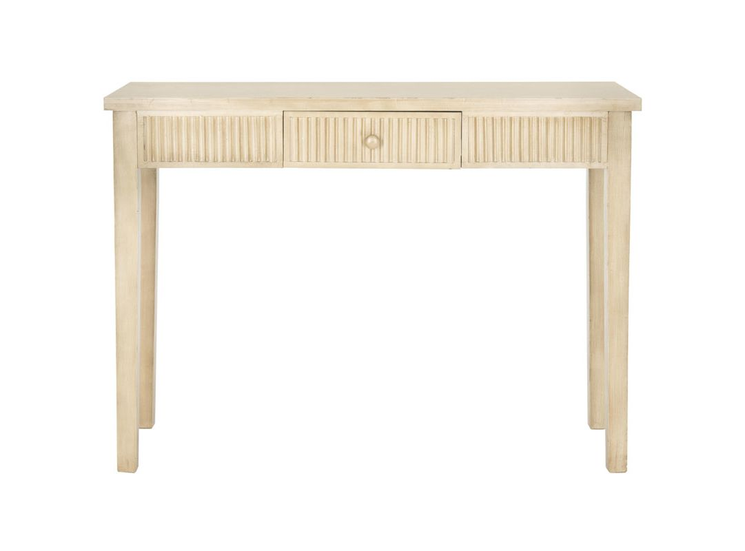 Safavieh AMH1528 Beale Fir Console Table White Wash Furniture Console