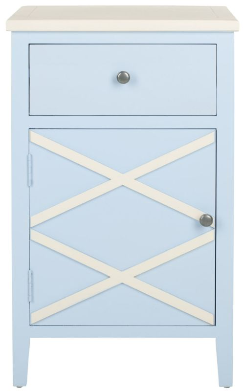 Safavieh AMH6598 Alan Poplar End Table Light Blue Furniture End Tables