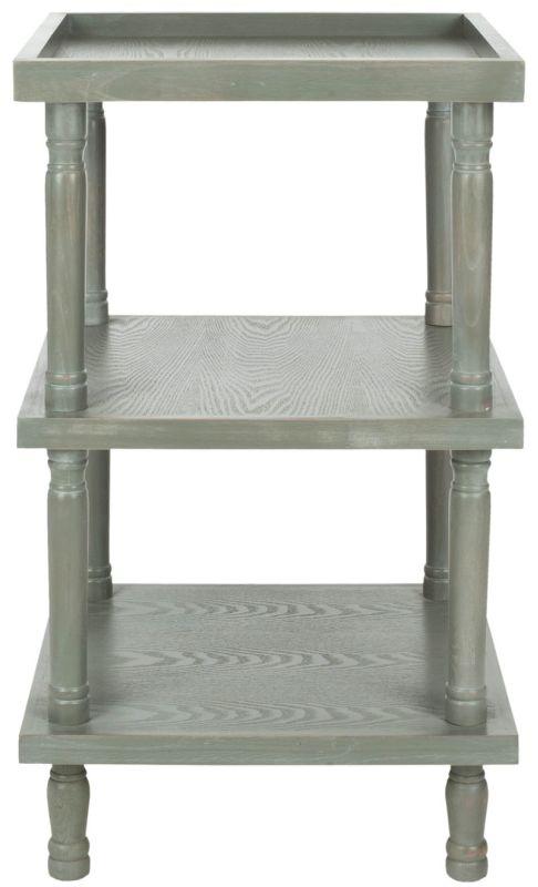 Safavieh AMH6602 Esmeralda Side Table French Grey Furniture End Tables