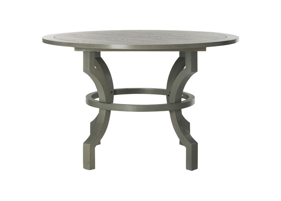 Safavieh AMH6644 Ludlow Round Dining Table Ash Grey Furniture Dining