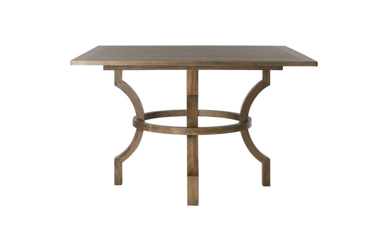 Safavieh AMH6645 Ludlow Square Dining Table Oak Furniture Dining