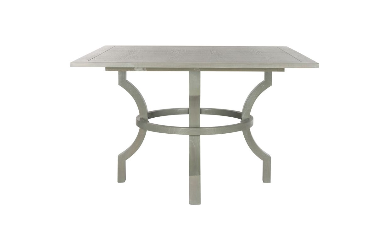 Safavieh AMH6645 Ludlow Square Dining Table Ash Grey Furniture Dining