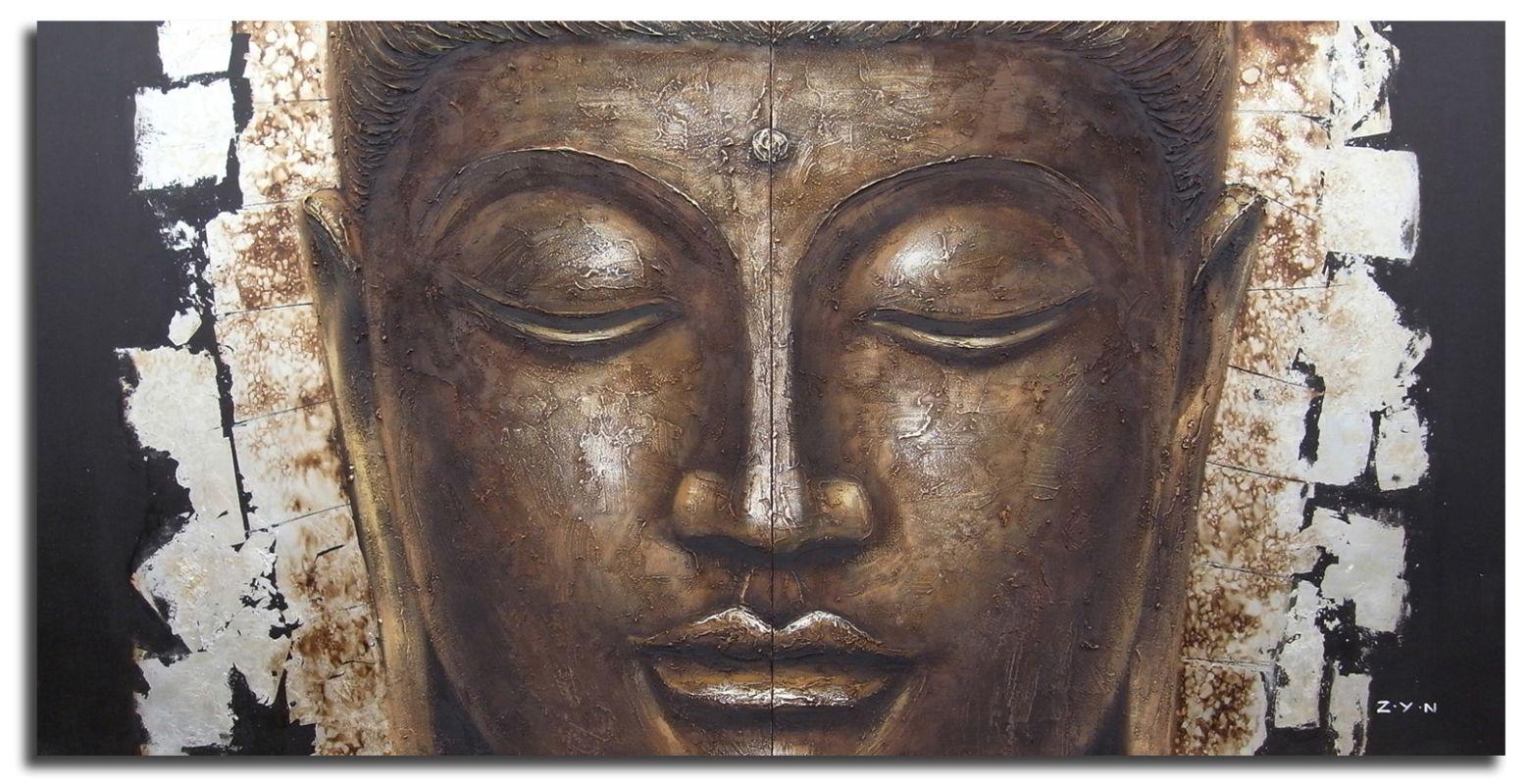 "Safavieh ART2005 31"" x 31"" Buddha Painting Gold / Black Home Decor"