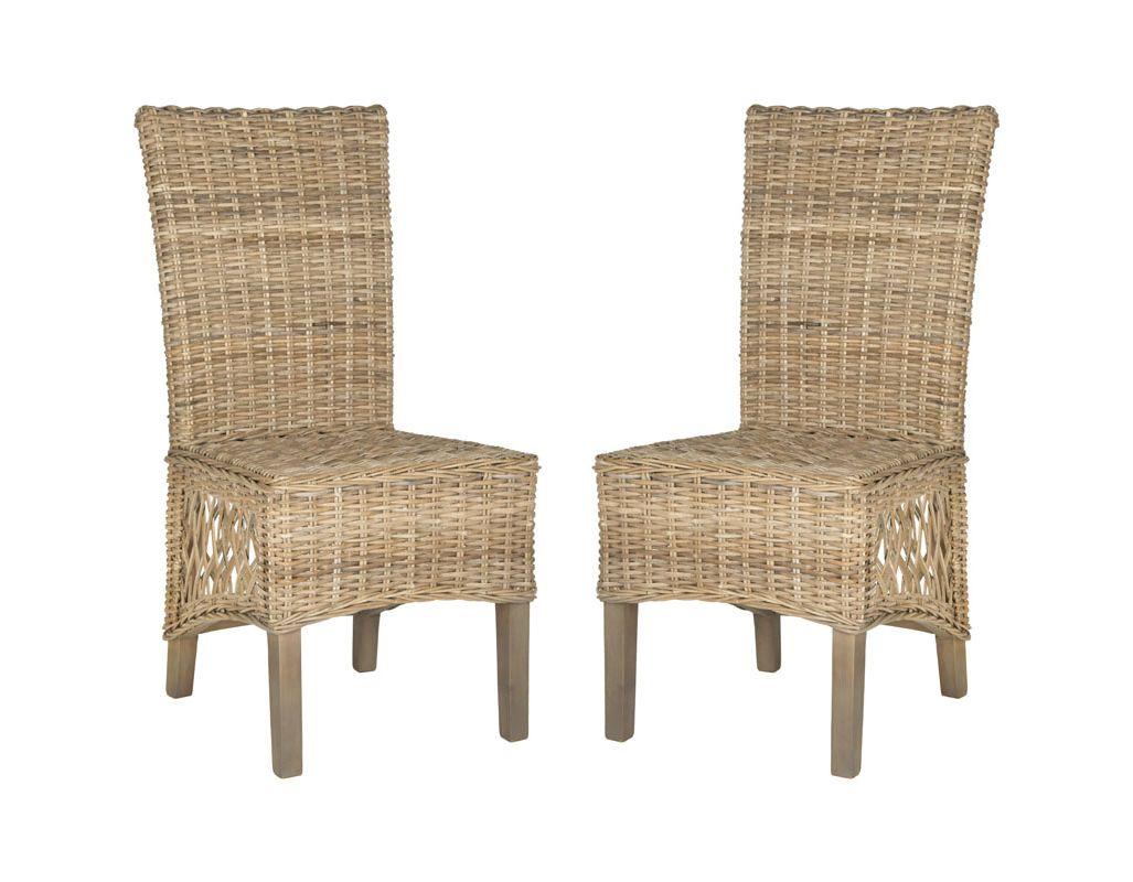 Safavieh FOX1601-SET2 Sumatra Side Chair (Set of 2) Natural Brown