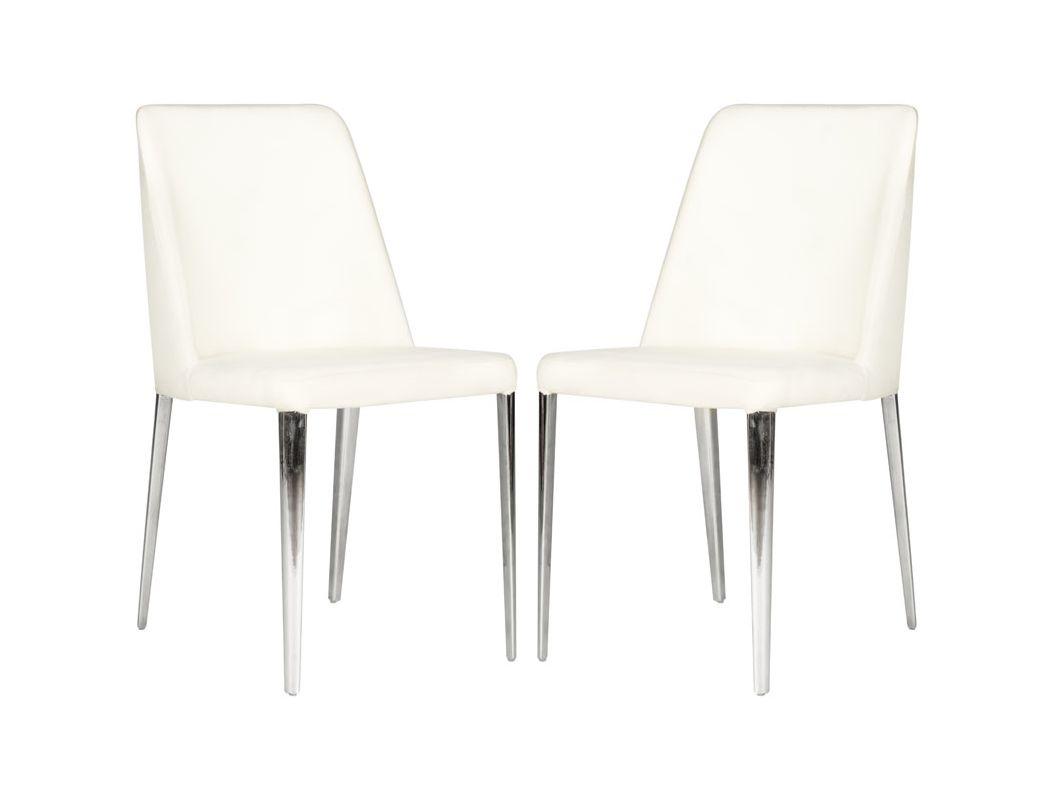 Safavieh FOX2012-SET2 Baltic Side Chair (Set of 2) Linen Beige