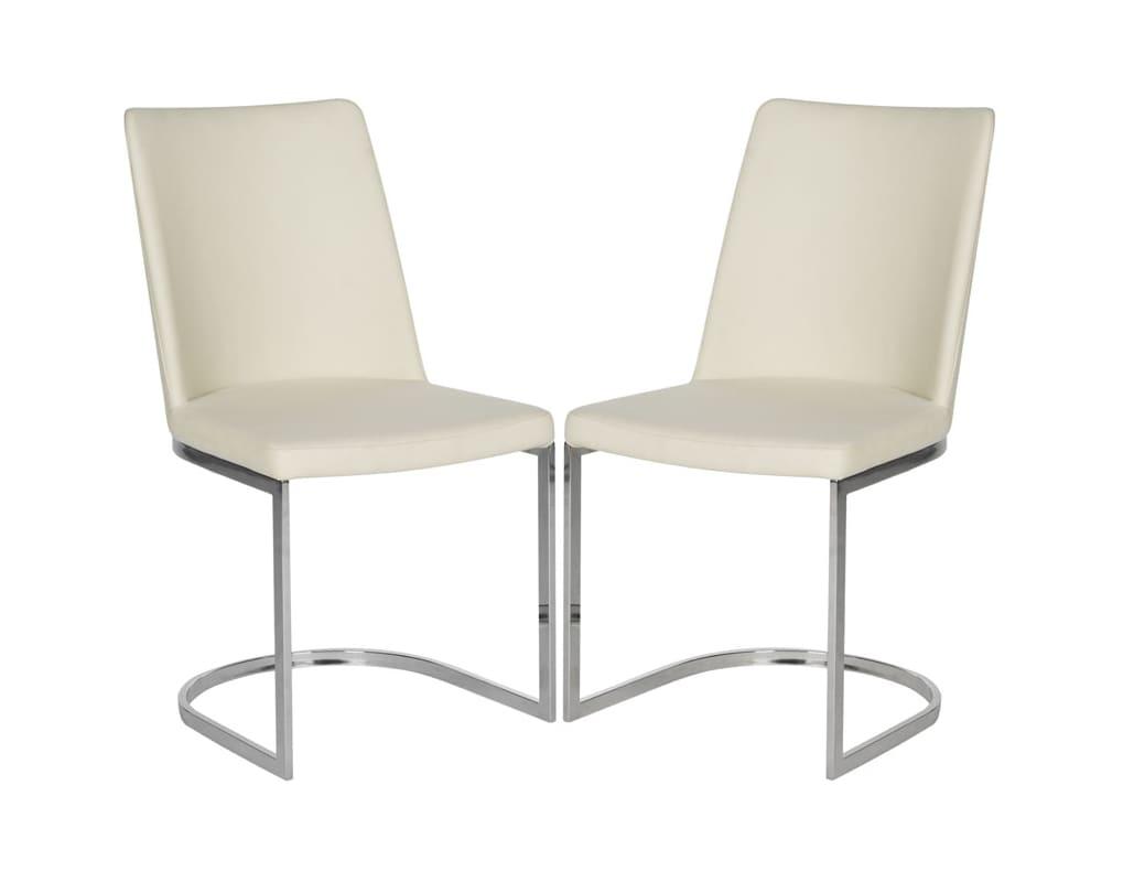 Safavieh FOX2013-SET2 Parkston Side Chair (Set of 2) Linen Beige