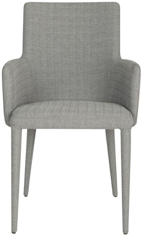 Safavieh FOX2015 Summerset Arm Chair Grey Linen Furniture Arm Chairs