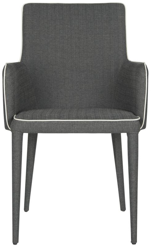 Safavieh FOX2015 Summerset Arm Chair Grey and White Furniture Arm -  FOX2015J