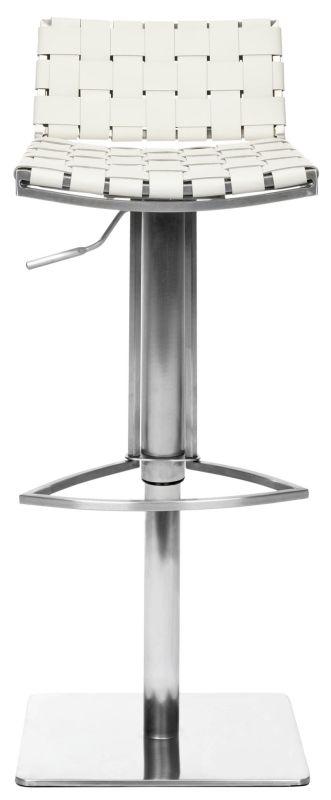 Safavieh FOX3001 Mitchell Gas Lift Bar Stool White Furniture Bar