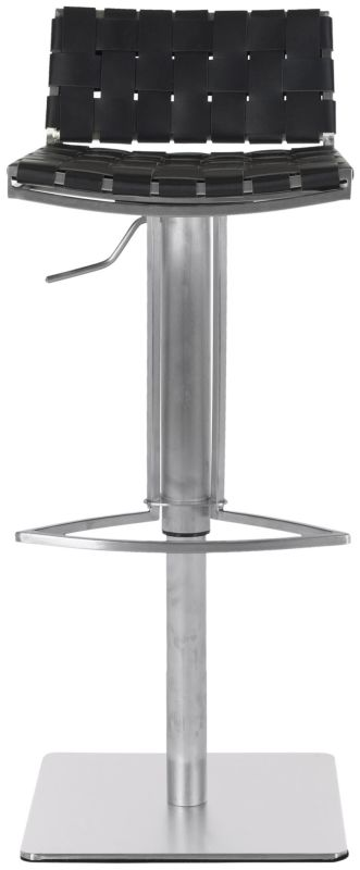 Safavieh FOX3001 Mitchell Gas Lift Bar Stool Black Furniture Bar
