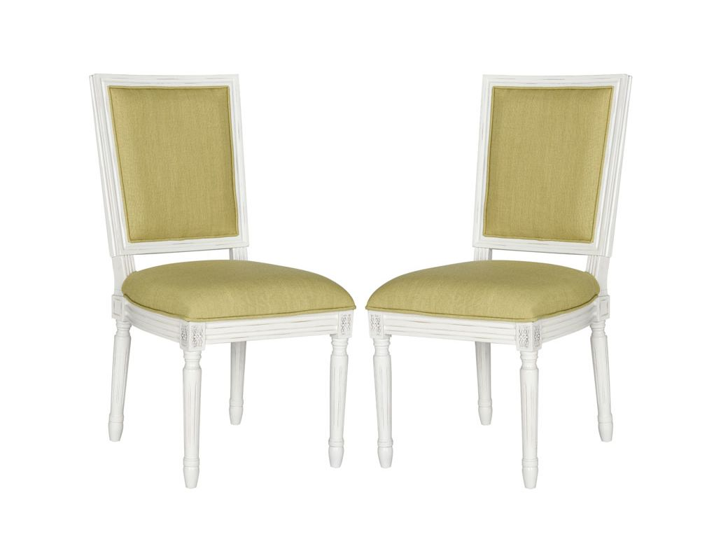 Safavieh FOX6229-SET2 Buchanan Rectangular Side Chair (Set of 2) -  FOX6229B-SET2